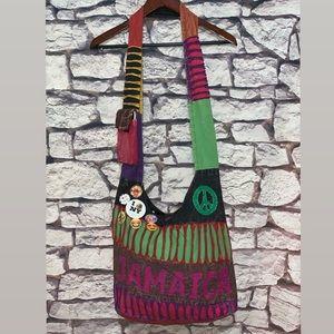 VTG Handmade Jamaica Distressed Denim Bag ☮️